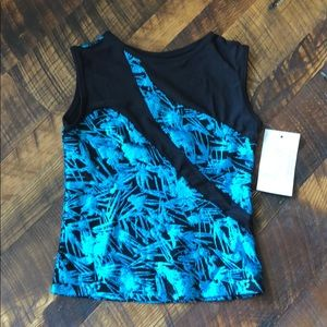 Other - Turquoise and black dance top